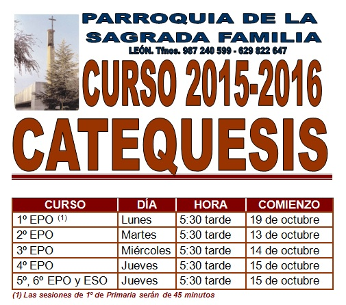 Catequesis 2015 - 2016